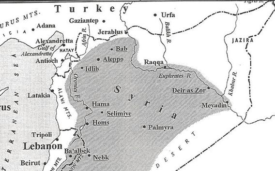 خريطة المناطق التي ادارتها حكومات العهد الفيصلي