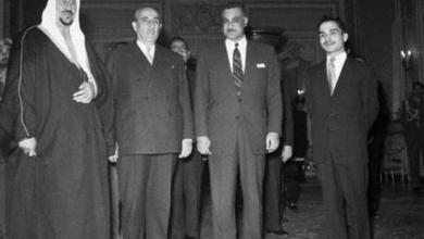اجتماع القادة العرب في بيروت عام 1956 (1)