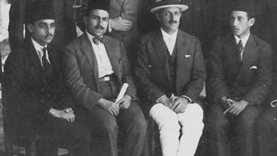 خالد معاذ مع مدير المعهد المعهد الفرنسي للأثار والفنون الاسلامية في قصر العظم