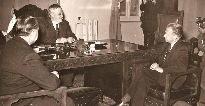 سعيد الغزي رئيس الحكومة السورية يستقبل أمين عام الأمم المتحدة