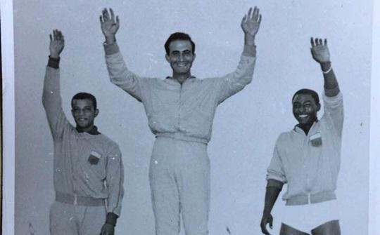 تتويج فريد حنا بالميدالية الذهبية في الدورة العربية عام 1961