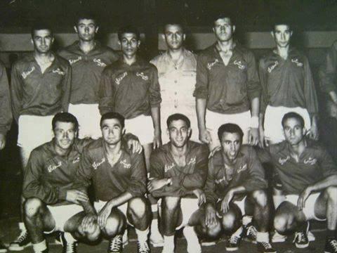 فريق الجيش السوري لكرة السلة عام 1957
