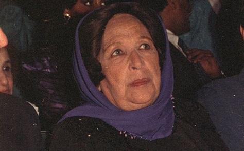 دمشق 1989 – أمينة رزق في افتتاح مهرجان دمشق السينمائي السادس