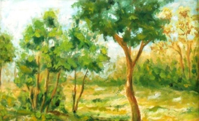 منظر طبيعي ... من لوحاتالفنان لؤي كيالي (35)