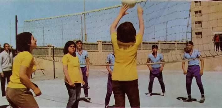 الرقة 1972- طلاب أحد مدارس مدينة الطبقة