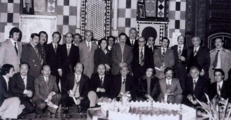 دمشق 1976- الهيئة التأسيسية لجمعية أصدقاء دمشق في متحف دمشق