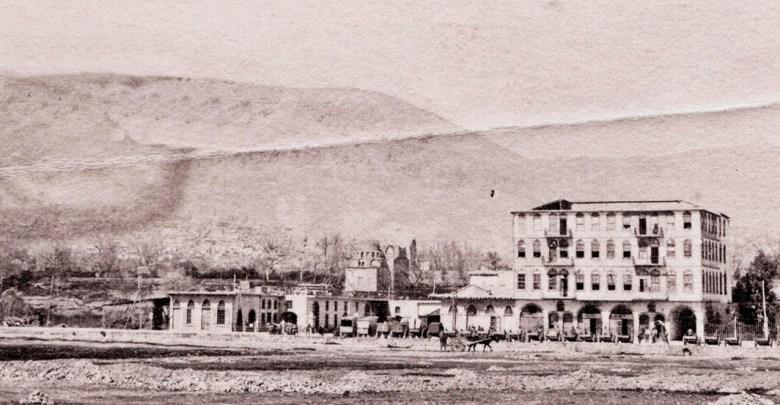 دمشق - شارع بيروت وقبة المدرسة الفروخشاهية 1922