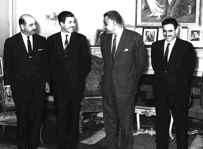 جمال عبد الناصر يستقبل إبراهيم ماخوس - حزيران 1966 (2)