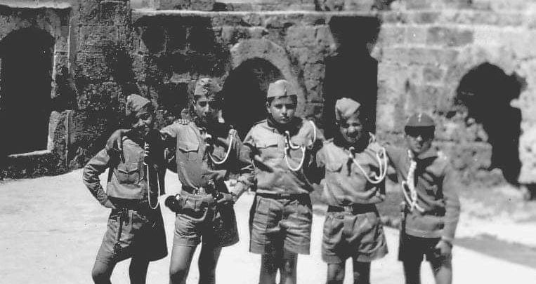 فرقة الكشافة في مدرسة البيروني - قلعة أرواد عام  1965