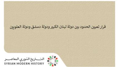 قرار تعيين الحدود بين دولة لبنان الكبير ودولة دمشق ودولة العلويين عام 1924