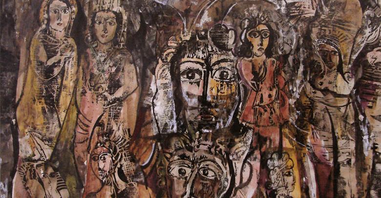 من وحي تدمر (1) - لوحة للفنان أحمد مادون (27)