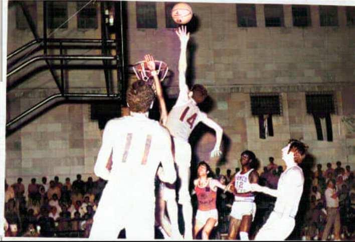 دمشق 1971-  المنتخب العسكري السوري بكرة السلة ضد نظيره الأميريكي