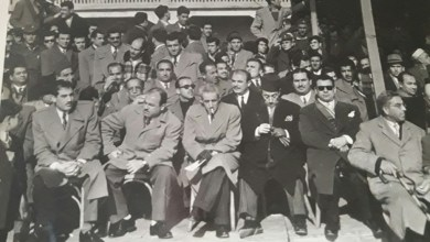 مطار النيرب 1956- حفل تخريج دورة المظليين