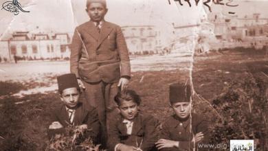 طلاب مدرسة التجهيز بحلب بالطربوش عام 1937م