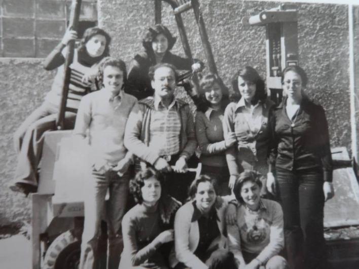 مجموعة من طلبة كلية الهندسة المدنية بجامعة تشرين عام 1977