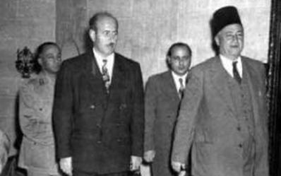 سعيد الغزي ووزير الدفاع رشاد برمدا عام 1956