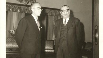 سعيد السيد مع الرئيس ناظم القدسي عام 1961