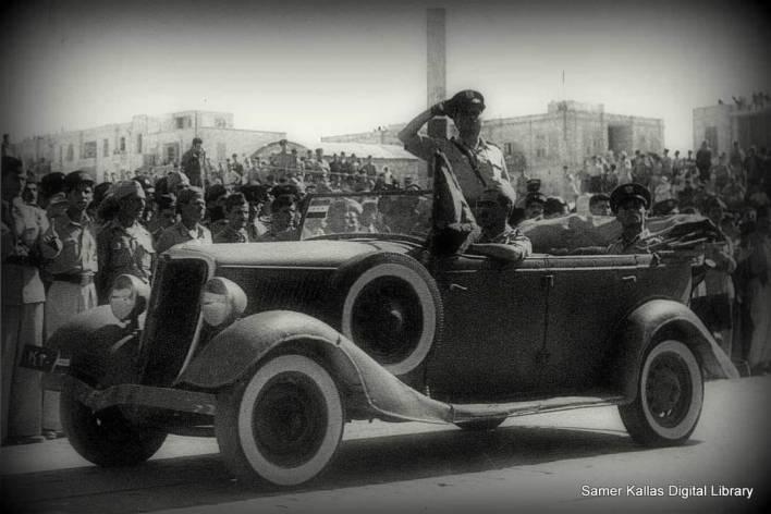بهيج كلاس في استعراض الاحتفال بالجلاء عام 1946م