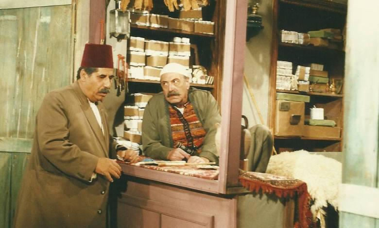 رفيق سبيعي وعدنان بركات في مسلسل أيام شامية عام 1992