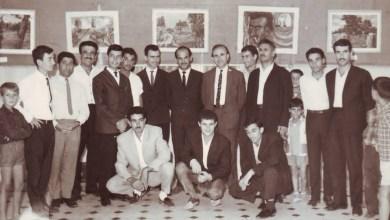 سلمان البدعيش في معرض فني في المركز الثقافي في السويداء 1965