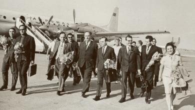 نجاح ساعاتي مع وفد جمعية الصداقة السورية - السوفيتية في موسكو عام 1970