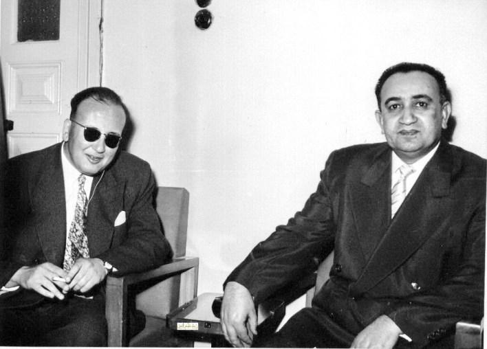 توفيق نظام الدين في زيارة مركز لرعاية المكفوفين في دمشق عام 1956 (2)