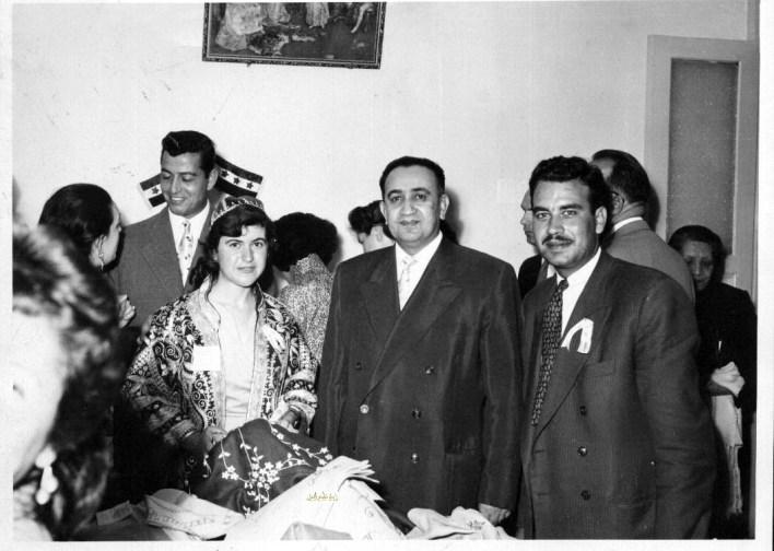توفيق نظام الدين في زيارة  مركز لرعاية المكفوفين في دمشق عام 1956 (4)
