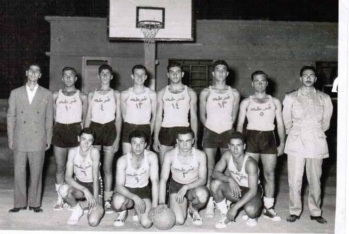 فريق نادي الغوطة بكرة السلة عام 1958