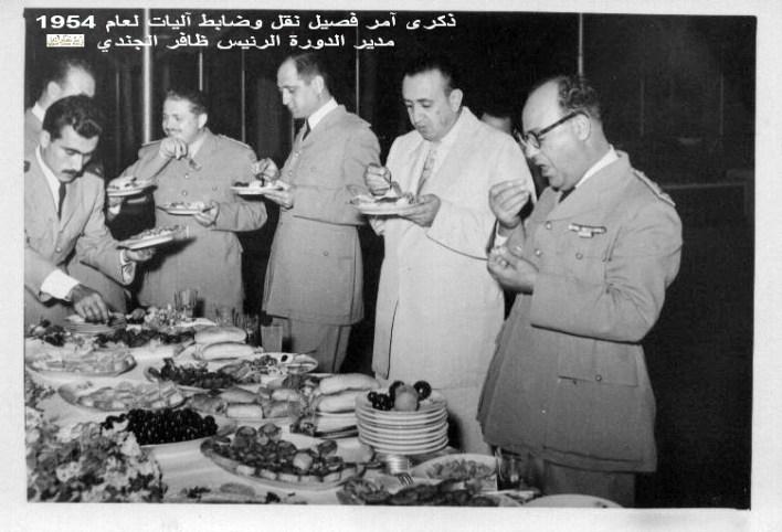 الزعيم توفيق نظام الدين في ذكرى دورة آمر فصيل نقل وضابط آليات عام 1954 (4)