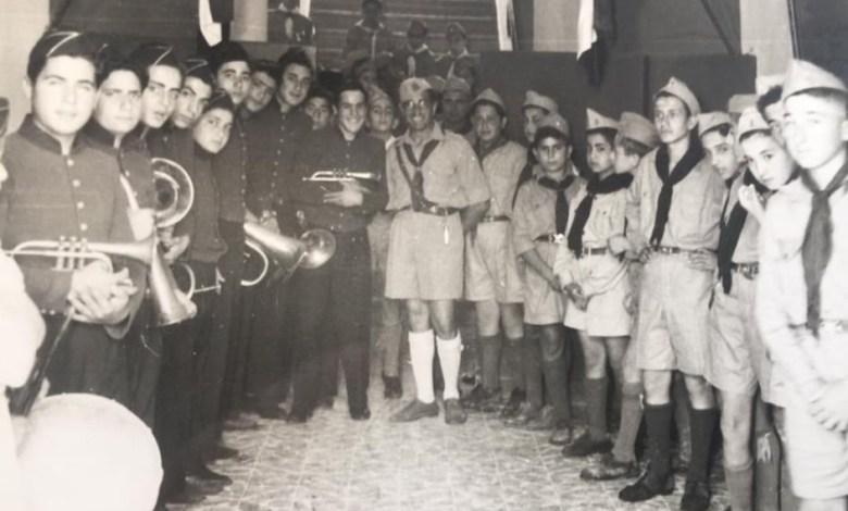 الفرقة الموسيقية مع كشاف مدرسة الكلية الوطنية في اللاذقية عام 1959