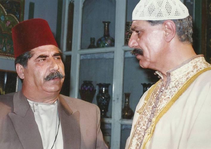 خالد تاجا وعدنان بركات في مسلسل أيام شامية عام 1992