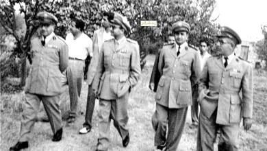 توفيق نظام الدين وأمين أبو عساف في السويداء عام 1954  (1)