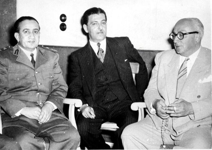 خالد العظم والزعيم توفيق نظام الدين 1955