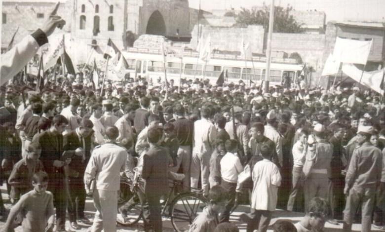 محور التجمع لمسيرة استنكار ضرب العمل الفدائي في لبنان (8)