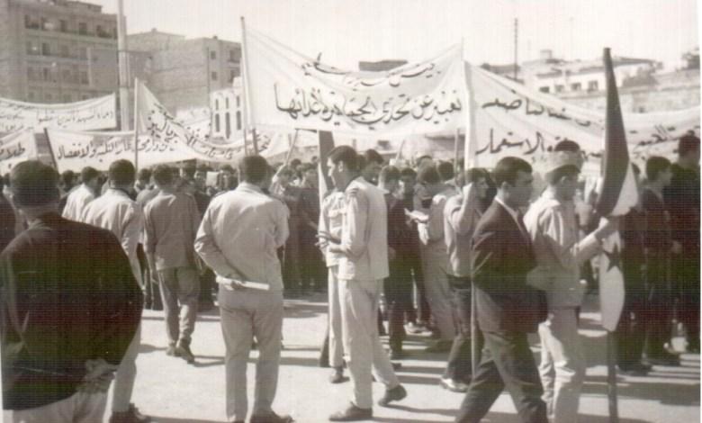 حلب 1969 - مسيرة استنكار ضرب العمل الفدائي في لبنان (9)
