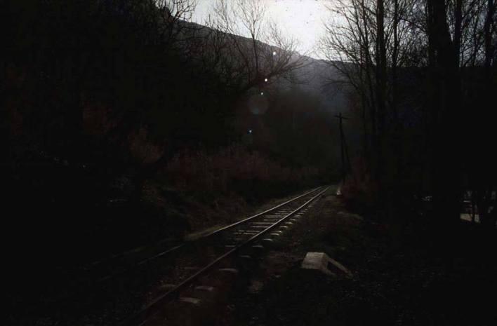 الخط الحديدي لقطار الزبداني قبل بلدة دمر عام 1982