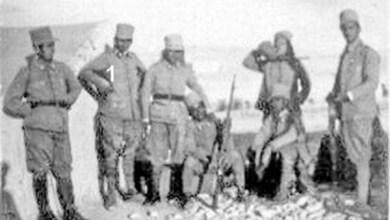 توفيق نظام الدين في مخيم تدريب الكلية الحربية في النبك 1934 (4)