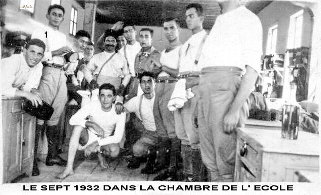 توفيق نظام الدين ورفاق دورة 1932 - 1934 في الكلية الحربية - حمص (5/1)
