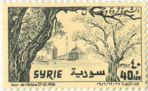طوابع سورية 1956 -عيد الشجرة
