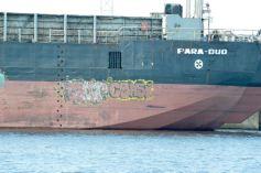 Graffiti on a barge
