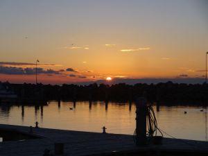 Sonnenuntergang in Roenne