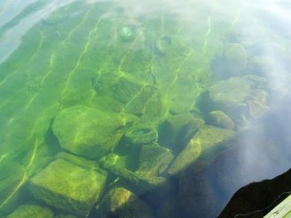 Glasklares Wasser im Hafen