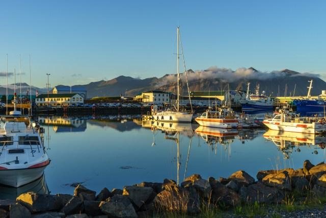 Ein letztes mal die schöne Abendsonne auf Island