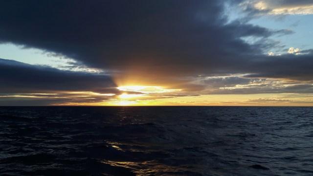 Sonnenuntergang am Dienstag
