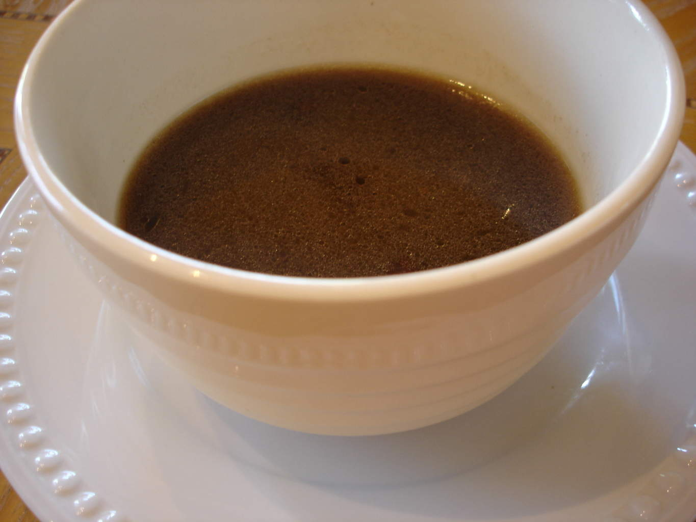 ... gravy bowl containing the red-eye gravy told me everything I need to