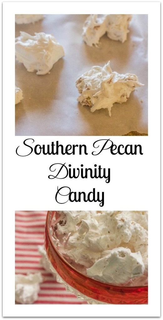 Southern Pecan Divinity Candy. The ultimate Southern homemade candy.