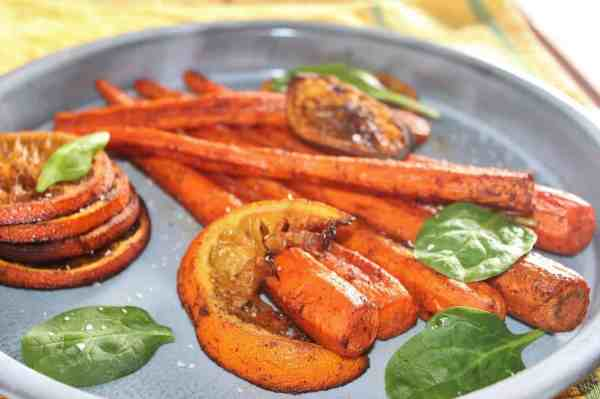 Roasted Chili Carrots and Oranges