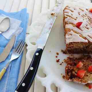 Strawberry Banana Nut Biscuit Bread