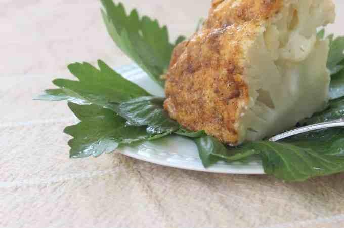 Wedge of Roasted Whole Cauliflower