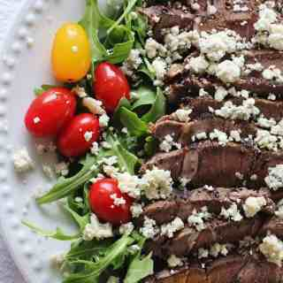 Sirloin and Arugula Salad with Blue cheese